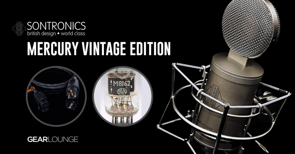 Sontronics Mercury Vintage Edition – lampowy mikrofon pojemnościowy