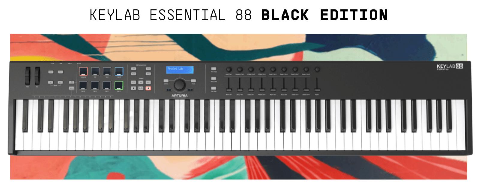 Arturia KeyLab Essential 88 Black Edition 1